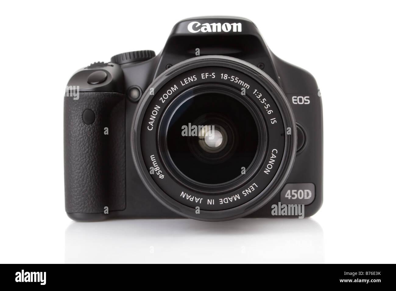 Canon EOS 450D (Rebel XSi), 12 megapixel digital slr, with the 18-55mm kit lens - Stock Image