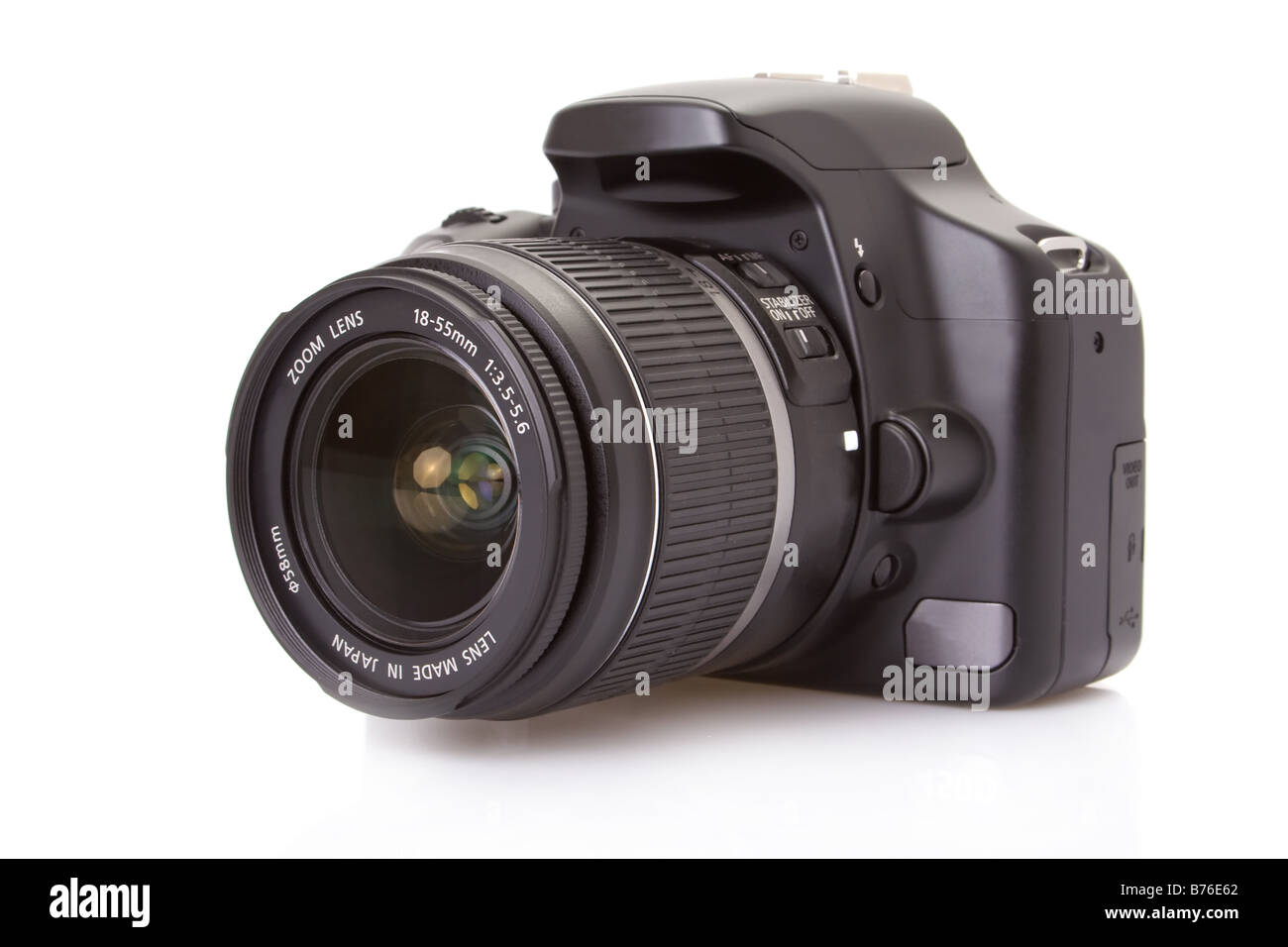 Digital slr isolated on white - Stock Image