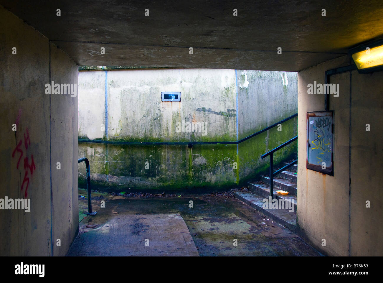 Public Underpass in Oldham, Lancashire England. - Stock Image