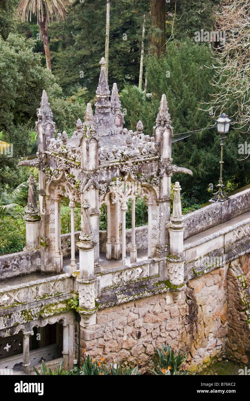 Quinta da Regaleira, Sintra, Portugal. Built 1904-1910 by Carvalho Monteiro and the architect Luigi Manini. - Stock Image