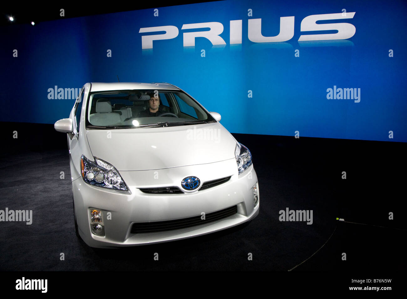 Detroit Michigan The 2010 Toyota Prius on display at the North American International Auto Show - Stock Image