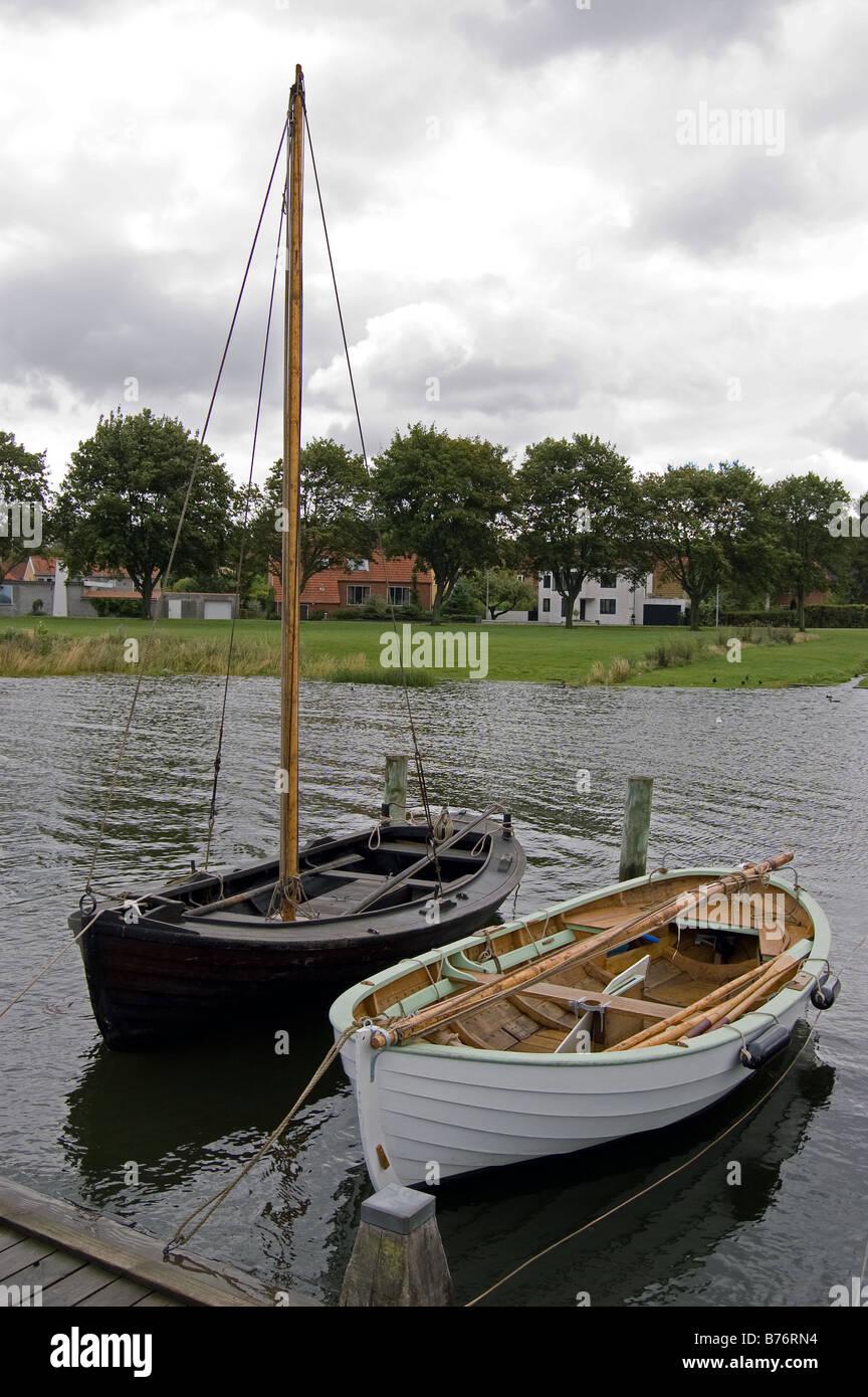 Replica Viking Ships - Stock Image