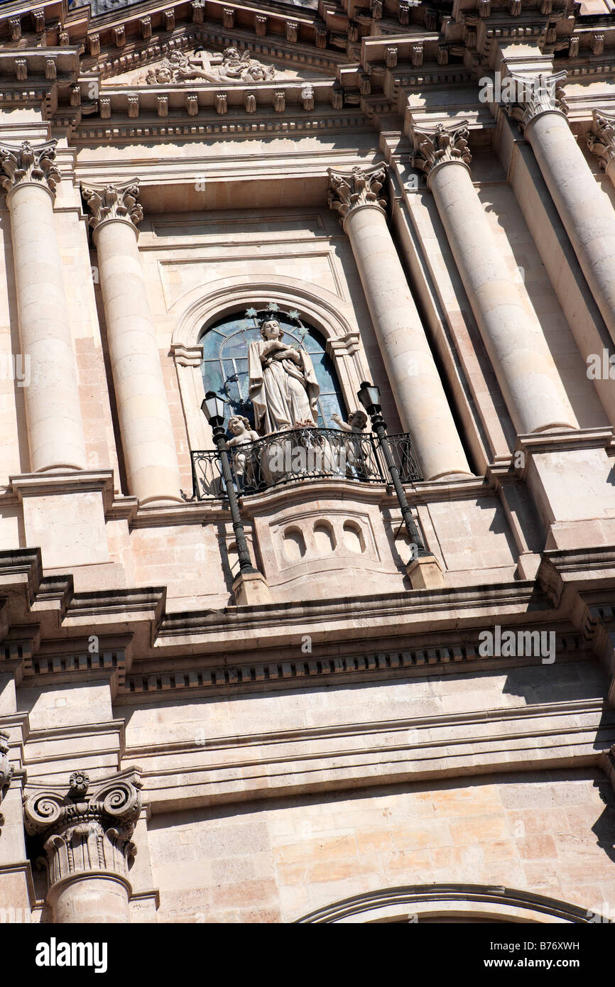 Church of San Francesco or Church of the Immaculate Virgin, Catania, Sicily - Stock Image