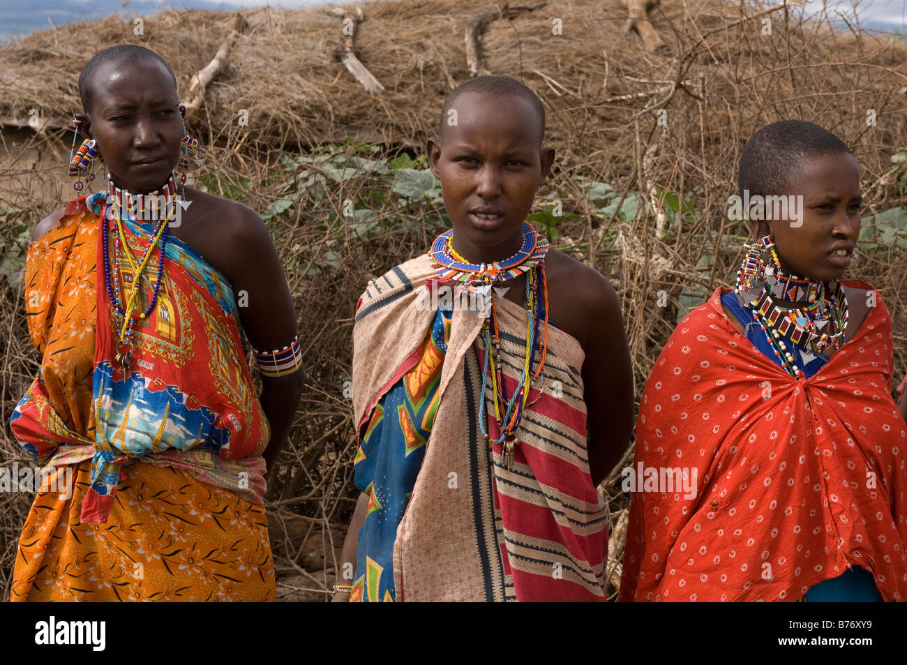 Masai Amboseli National Park Kenya - Stock Image