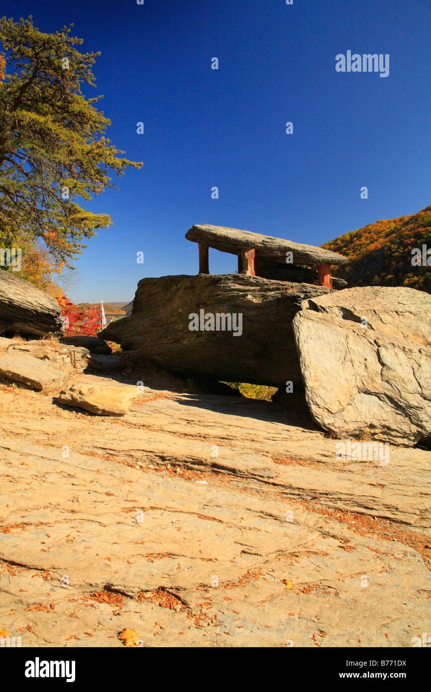 Jefferson Rock, Appalachian Trail, Harpers Ferry, West Virginia, USA - Stock Image