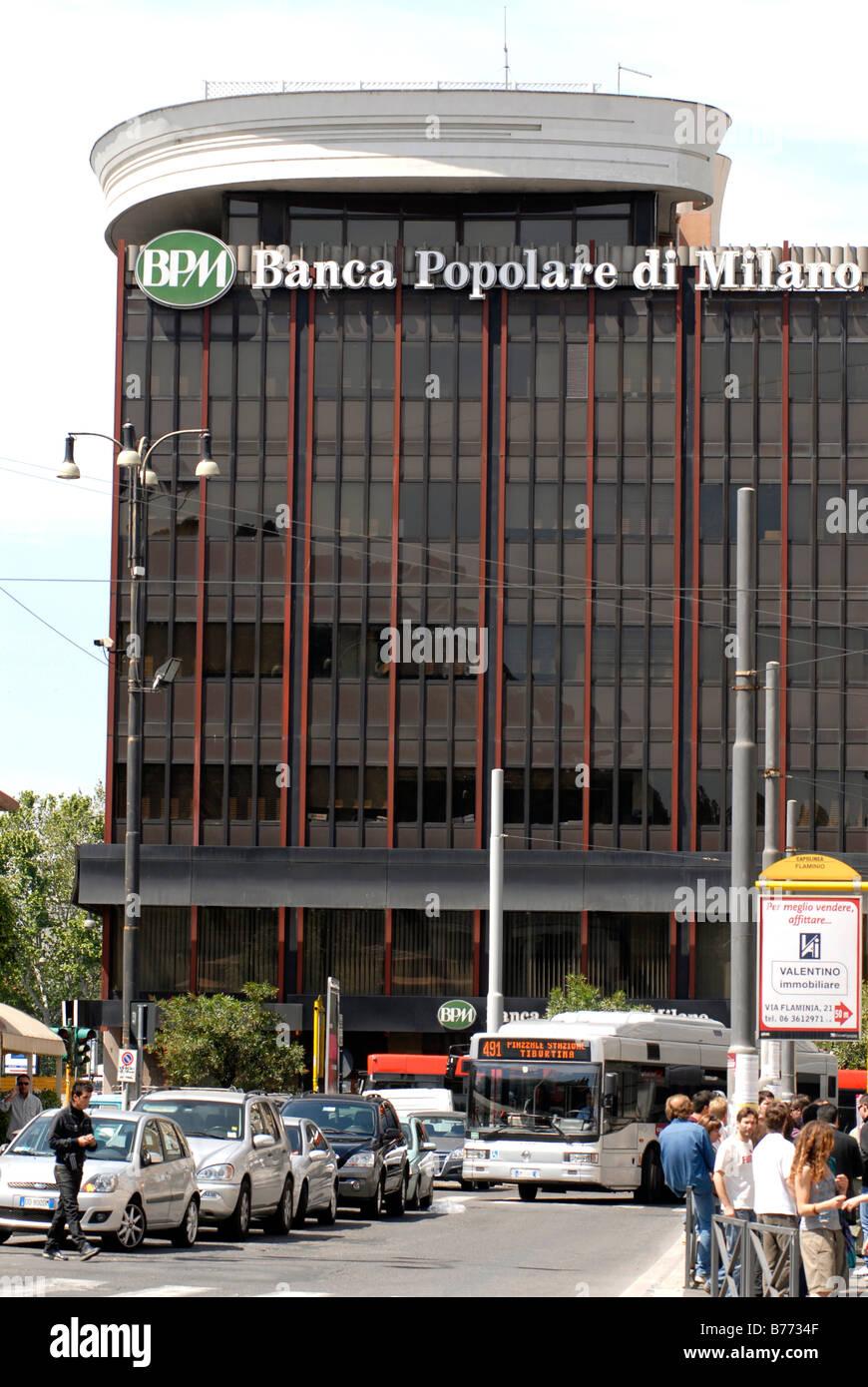 Banca Popolare Di Milano Roma Italy Stock Photo 21669103 Alamy