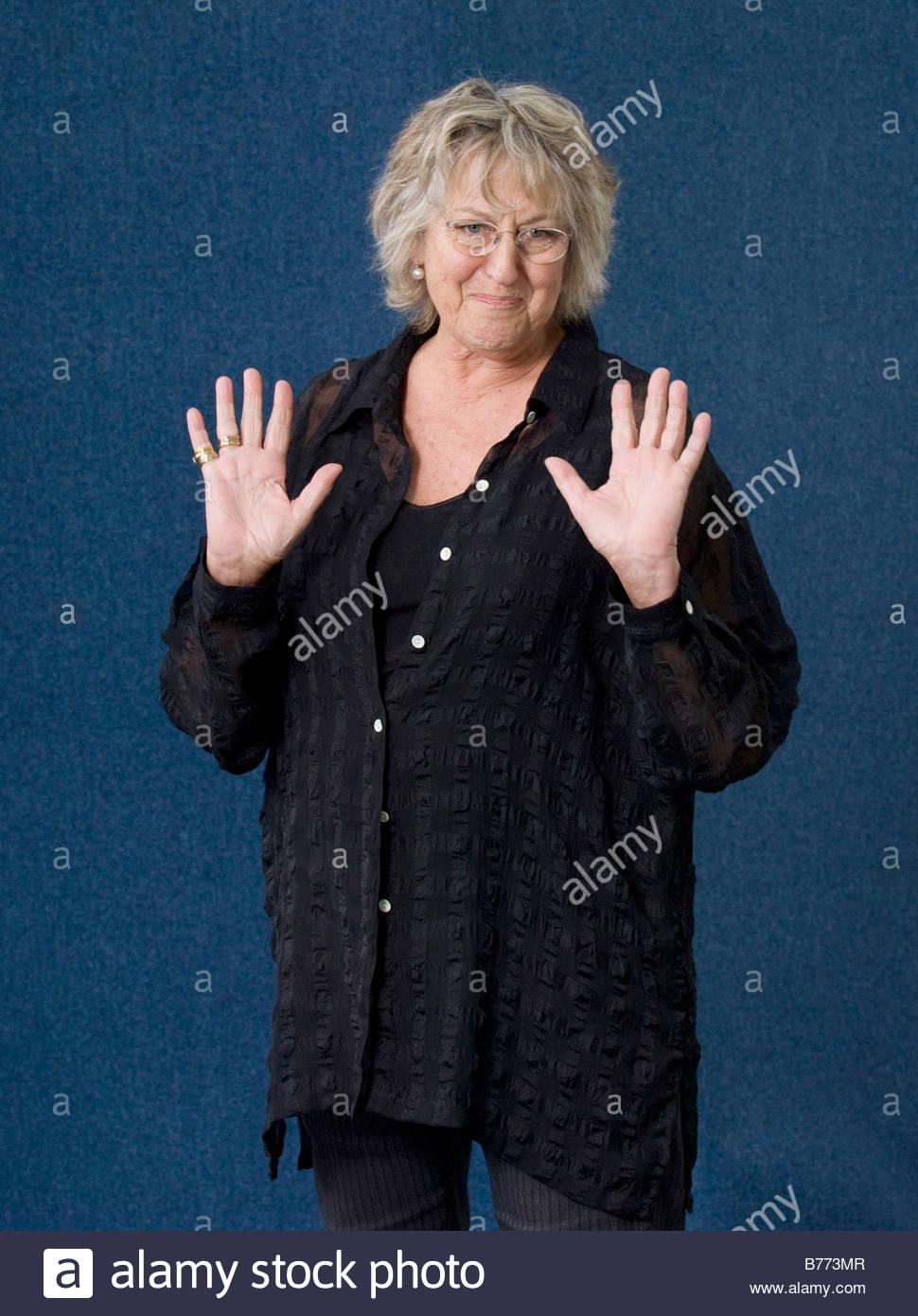 Germaine Greer at The Edinburgh Book Festival 2007 - Stock Image