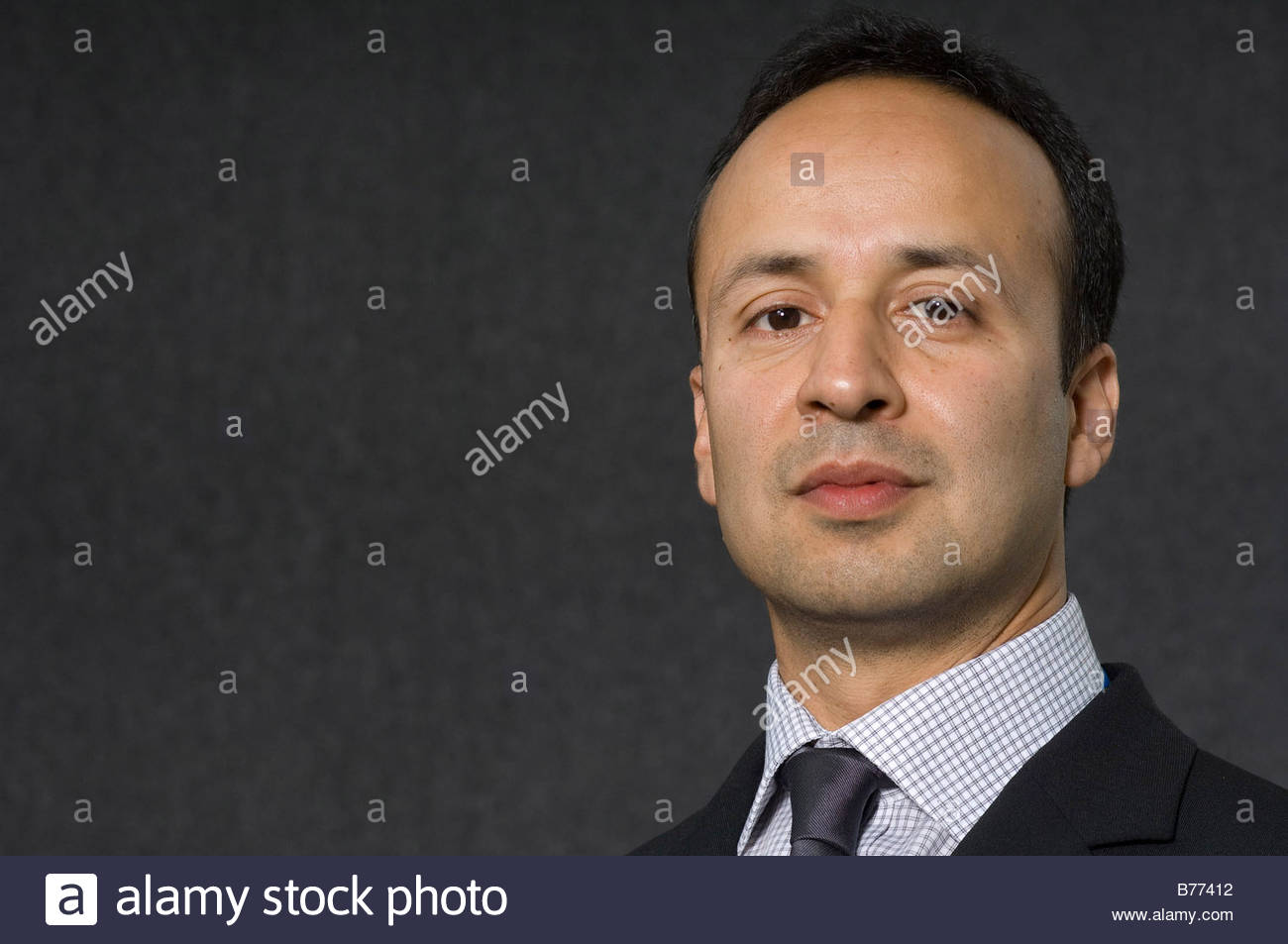 Iqbal Ahmed Kashmiri Writer who in Empire In The Mind he travels through Scotland and England - Stock Image