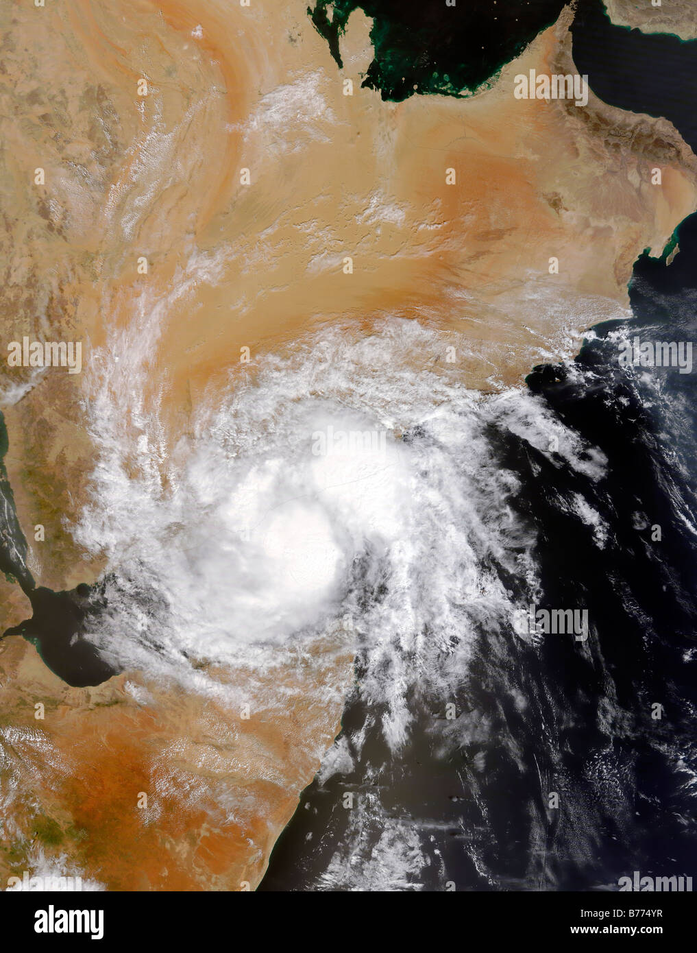 Tropical Storm Three in the northern Indian Ocean. - Stock Image