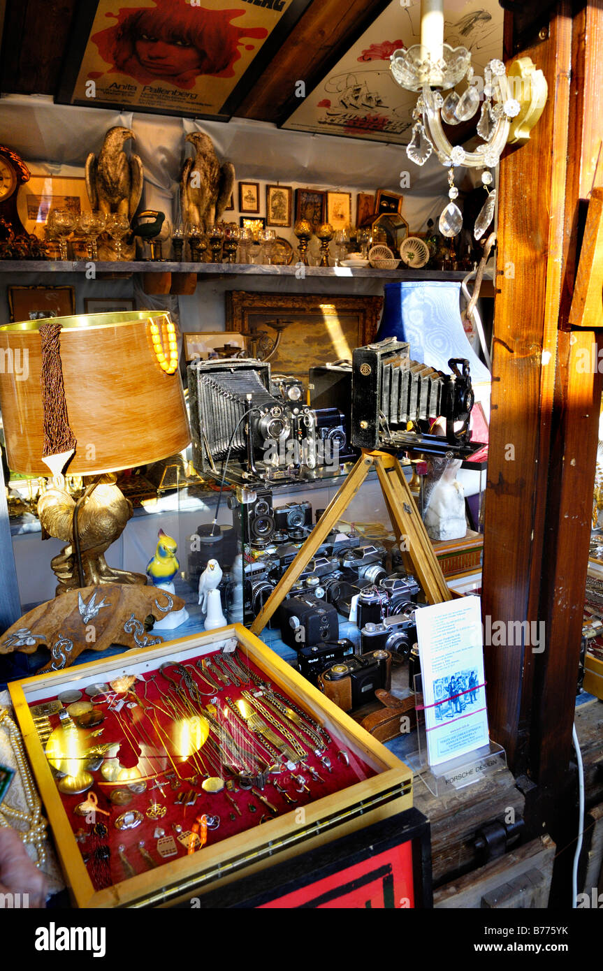 Old cameras and paraphernalia, Auer Dult, Munich, Bavaria, Germany, Europe - Stock Image