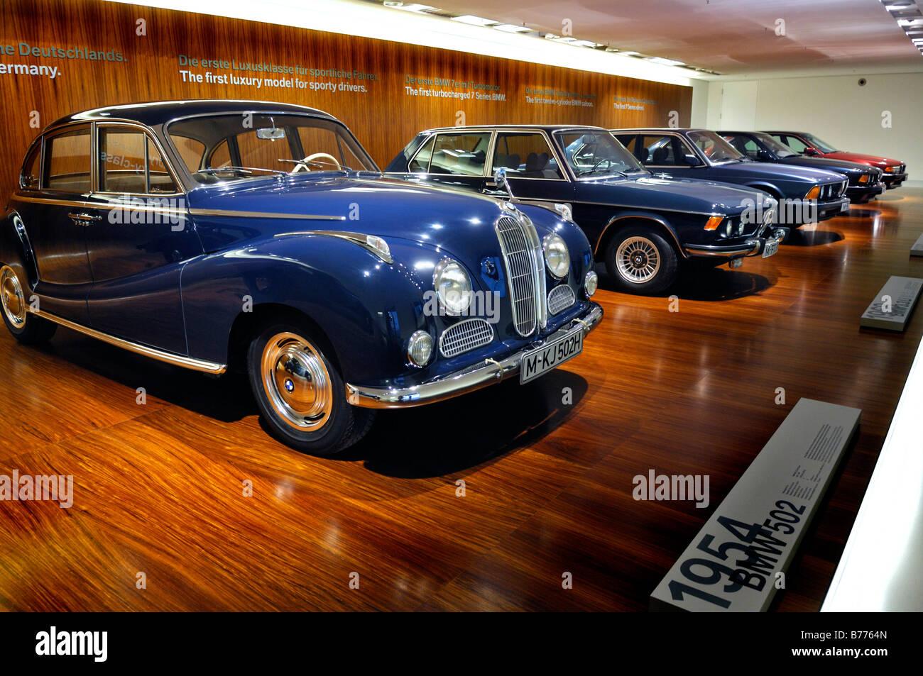 BMW Museum, 1954 BMW-502, Munich, Bavaria, Germany, Europe Stock ...