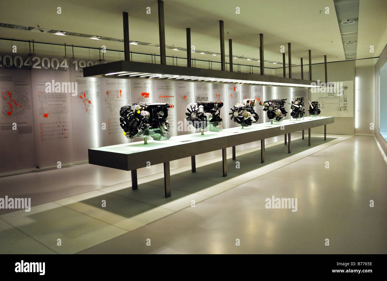 BMW Museum, BMW motors, Munich, Bavaria, Germany, Europe - Stock Image