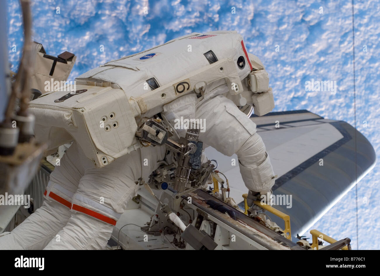 Astronaut Red Walheim in space - Stock Image