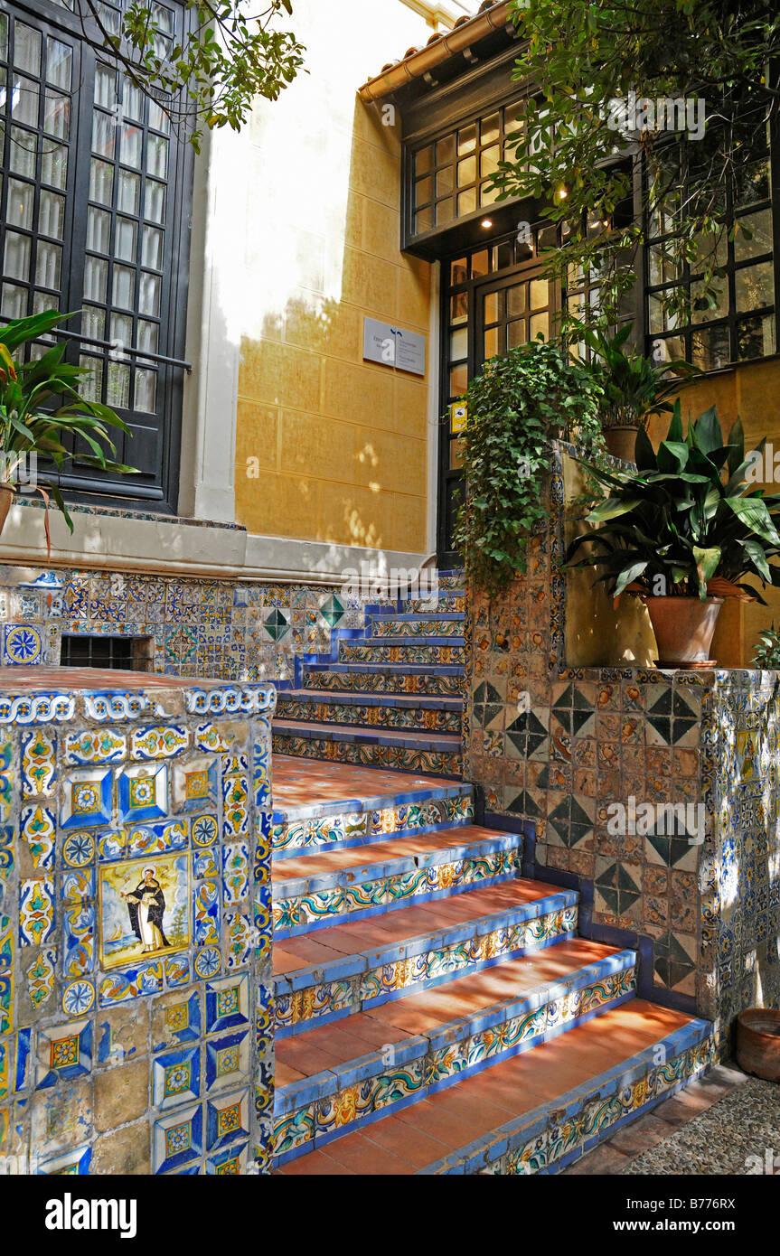Entrance Staircase Azulejos Spanish Tiles Museo