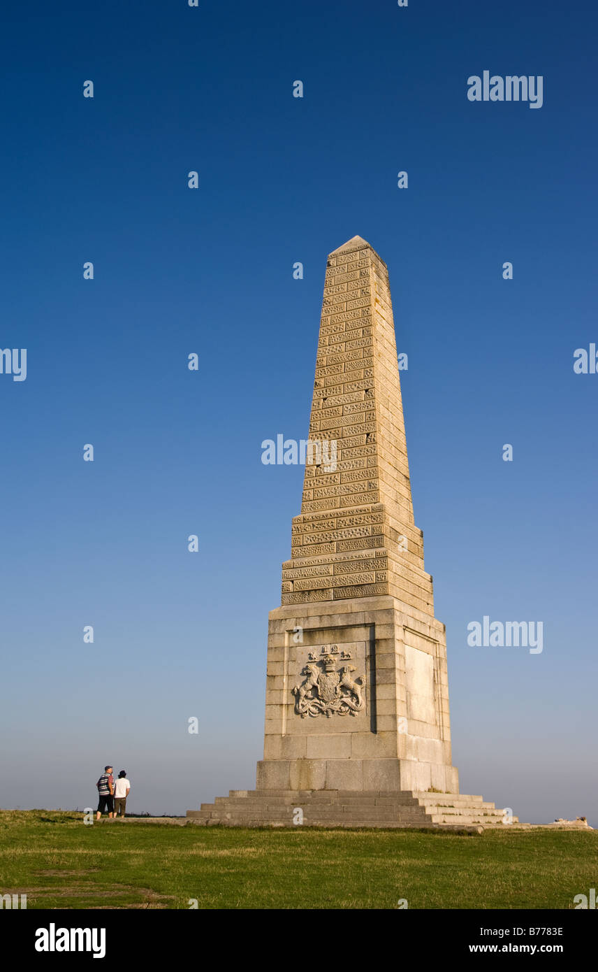 Monument to the Earl of Yarborough on Culver Down. Stock Photo