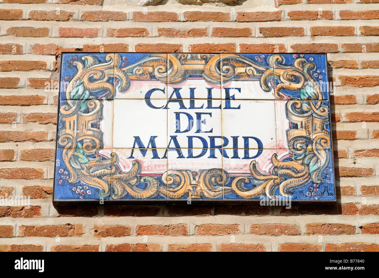 Spanish Street Signs Stock Photos Spanish Street Signs