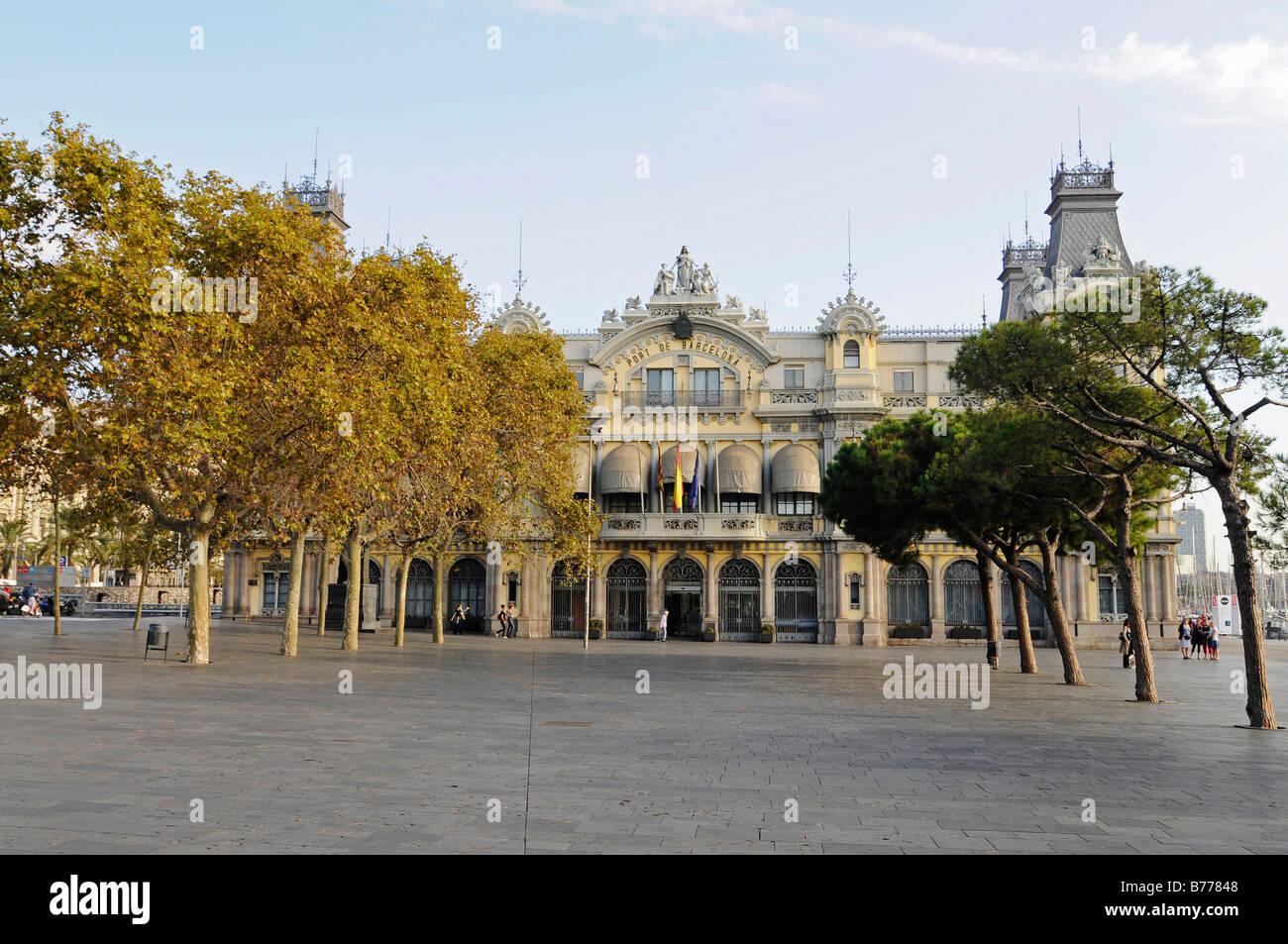 Port Authority building, Port Vell, Barcelona, Catalonia, Spain, Europe - Stock Image