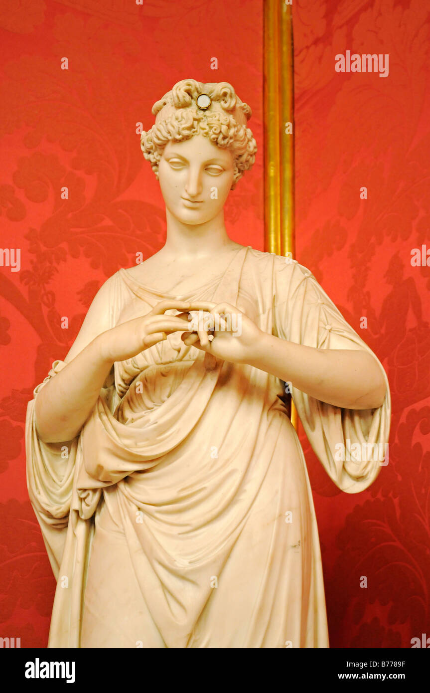 Woman, alabaster, sculpture, the Golden Parlour, hall, Palacio de la Llotja de Mar, former stock exchange, Barcelona, Stock Photo