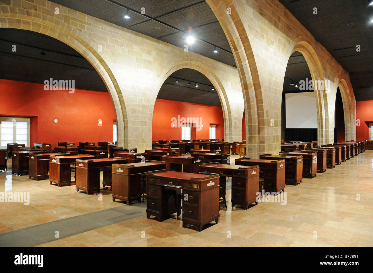 Bureaus, parlour, hall, Palacio de la Llotja de Mar, former stock exchange, Barcelona, Catalonia, Spain, Europe Stock Photo