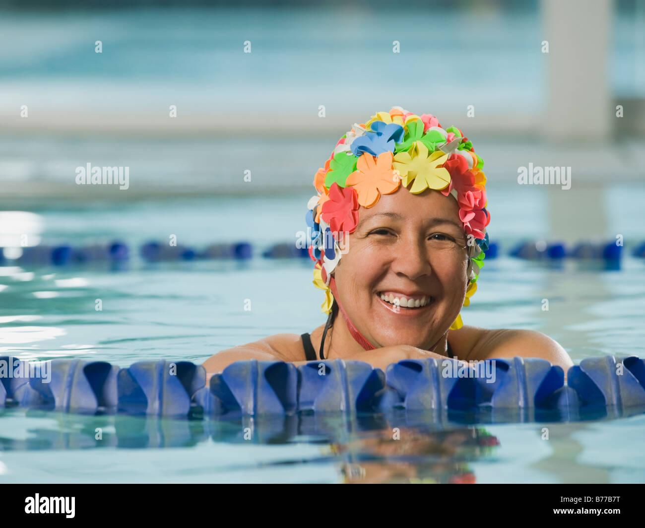 Mature Woman Swimming Cap Stock Photos Mature Woman Swimming Cap Stock Images Alamy