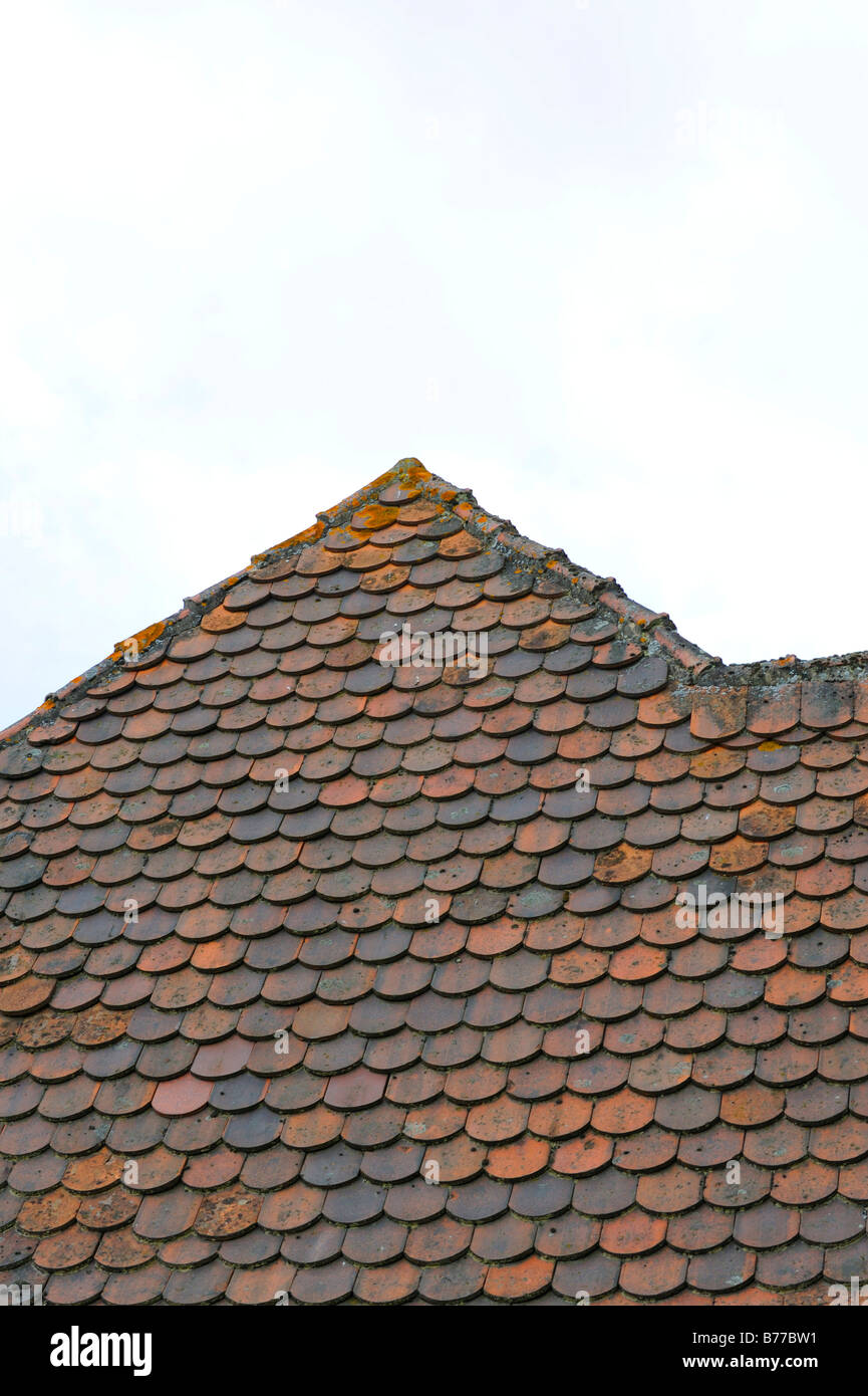 Rooftop, plain tiling Stock Photo