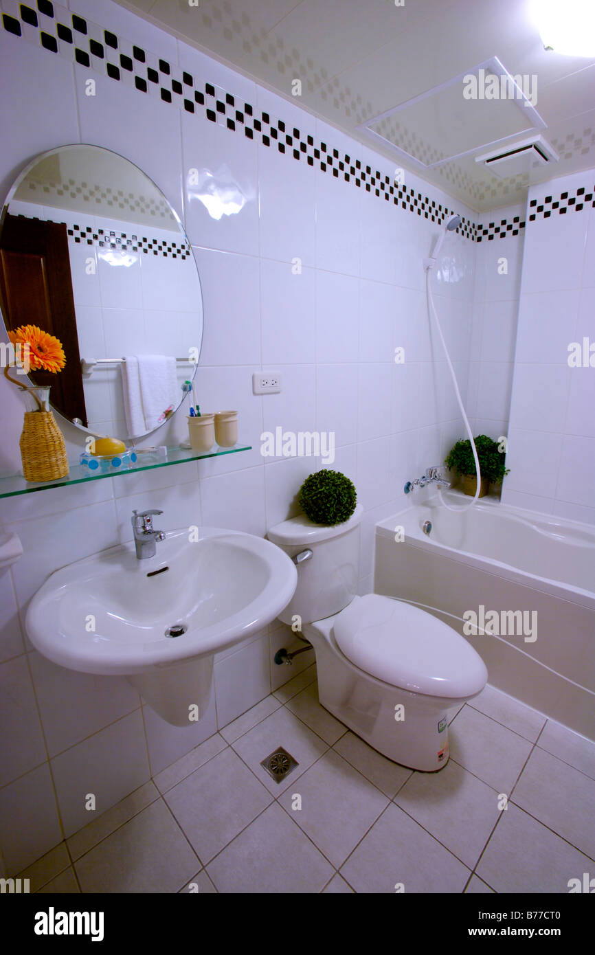 Toilet sink and tub in bathroom Stock Photo: 21676704 - Alamy