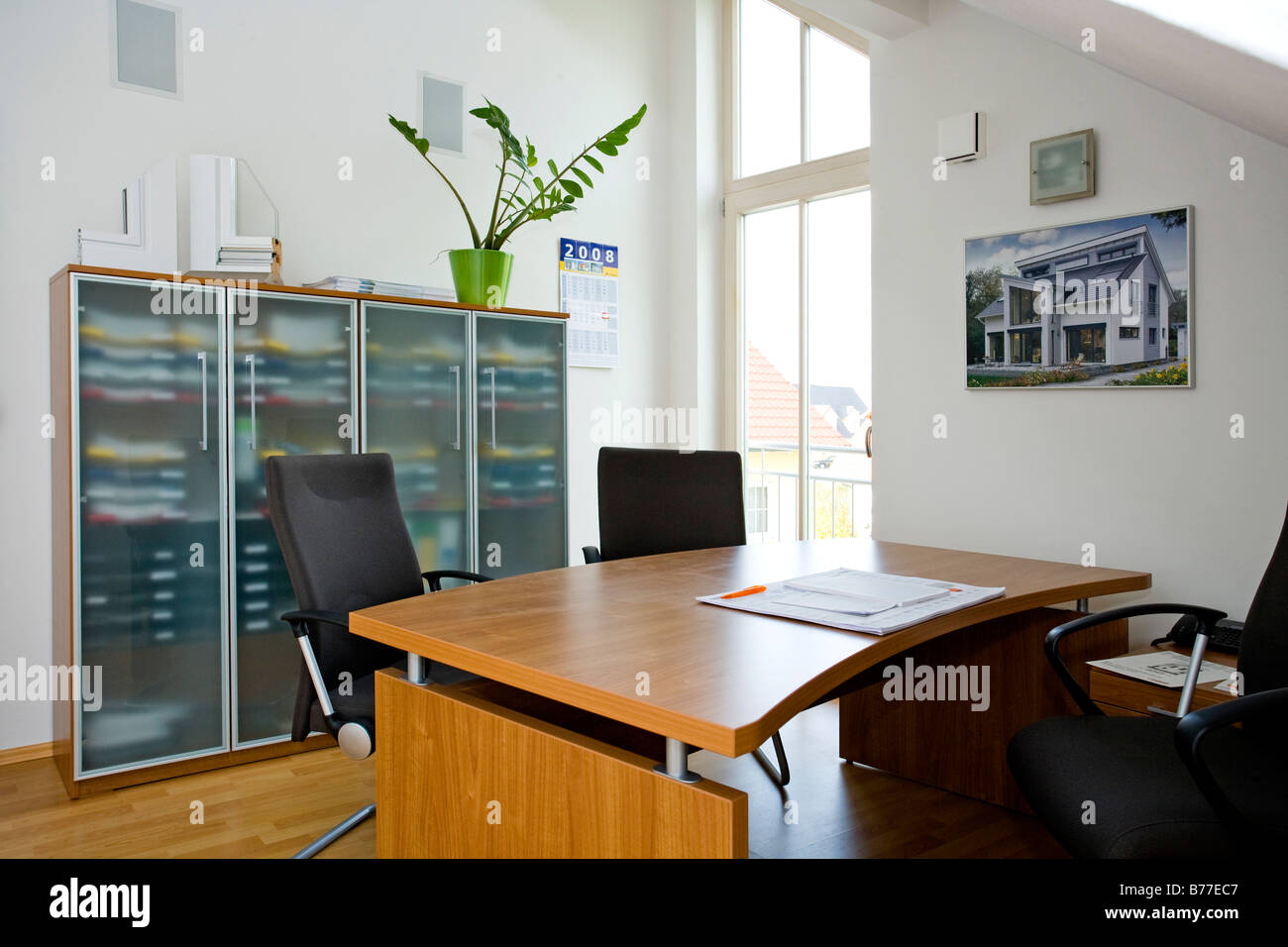 Modernes Arbeitszimmer, modern home office Stock Photo