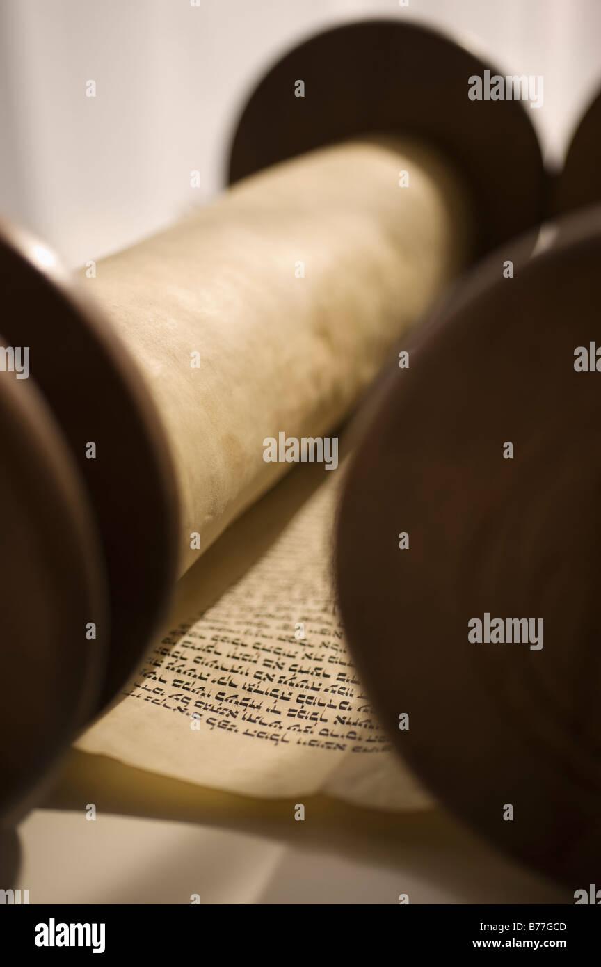 Torah scroll - Stock Image