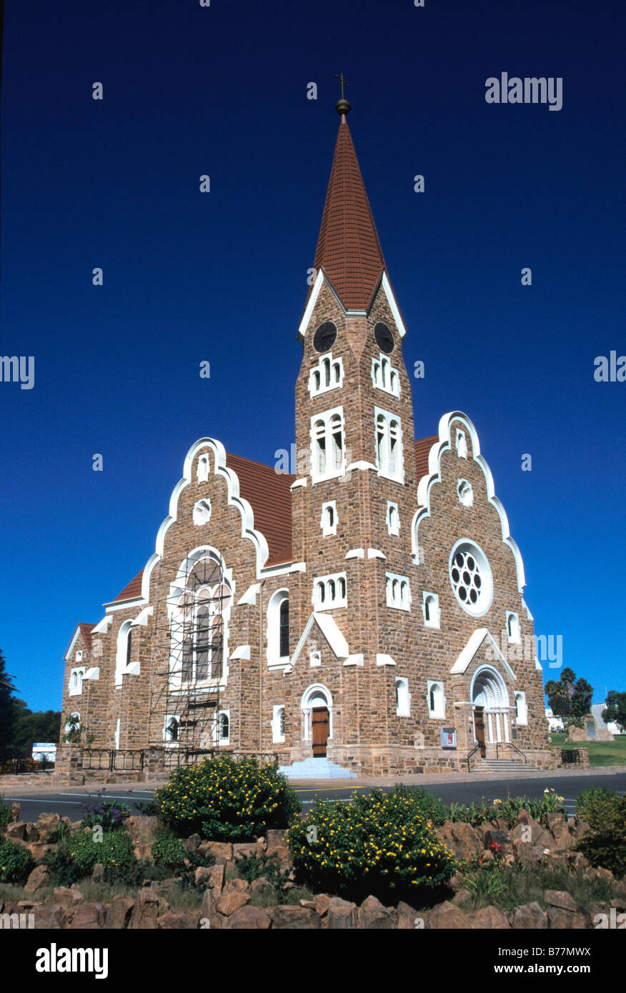 Christ church, Windhoek, Namibia, Africa - Stock Image
