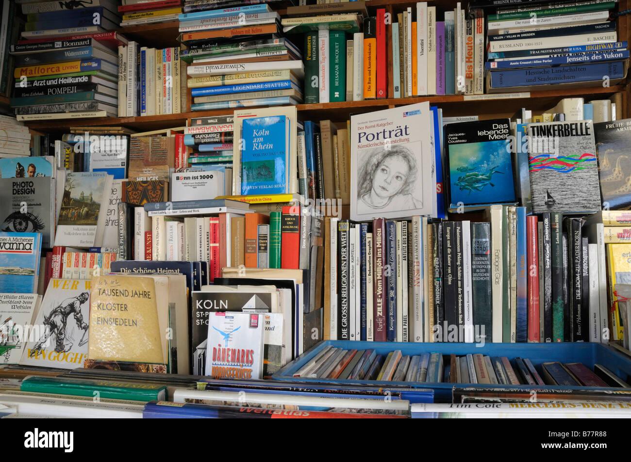 Antiquarian books, book shop - Stock Image