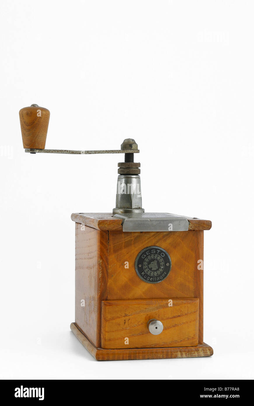Antique Manual Coffee Mill Stock Photo 21684944 Alamy