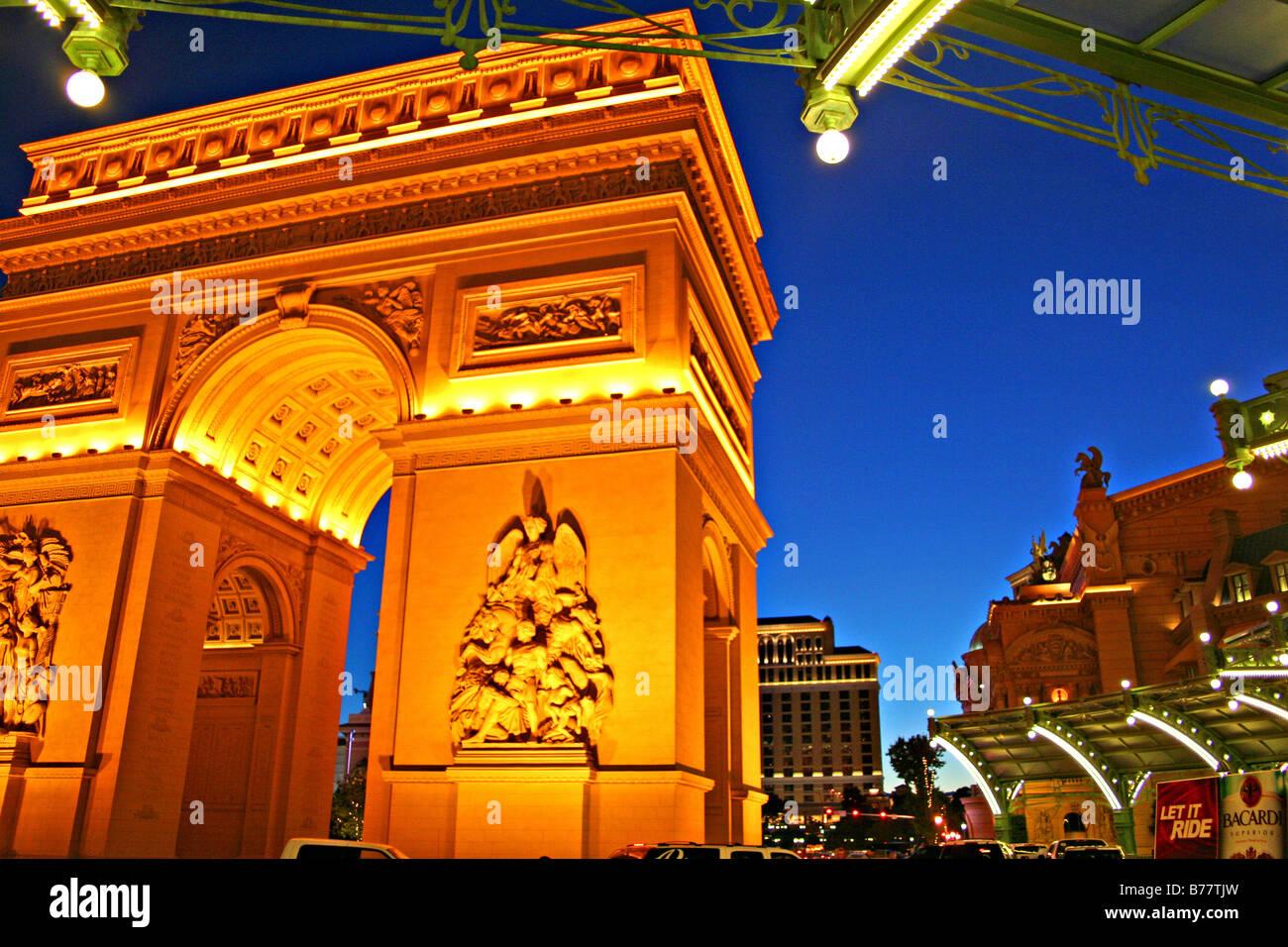 Paris Casino entrance,Las Vegas,Nevada - Stock Image