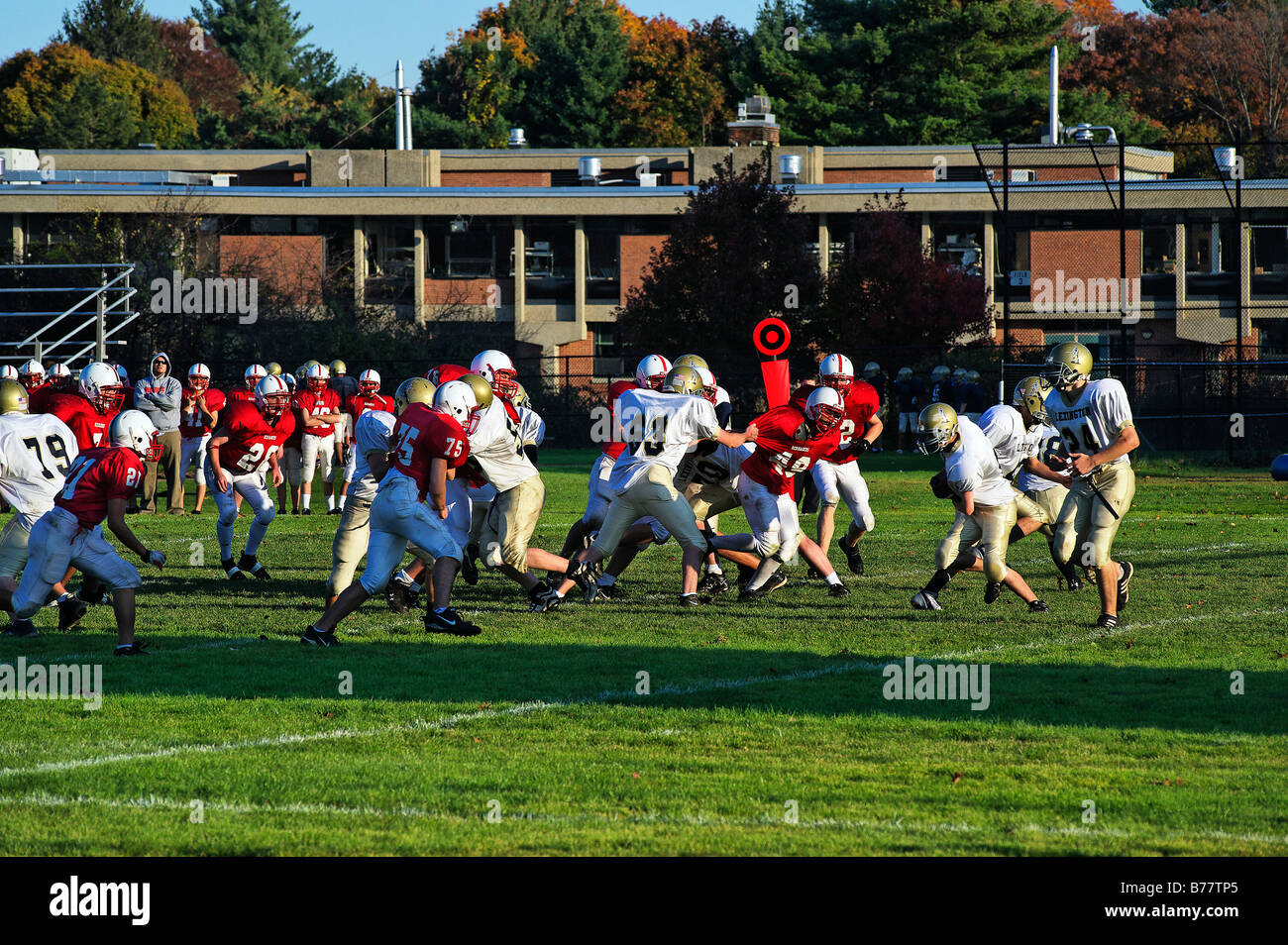 High School Football Practice Stock Photos High School