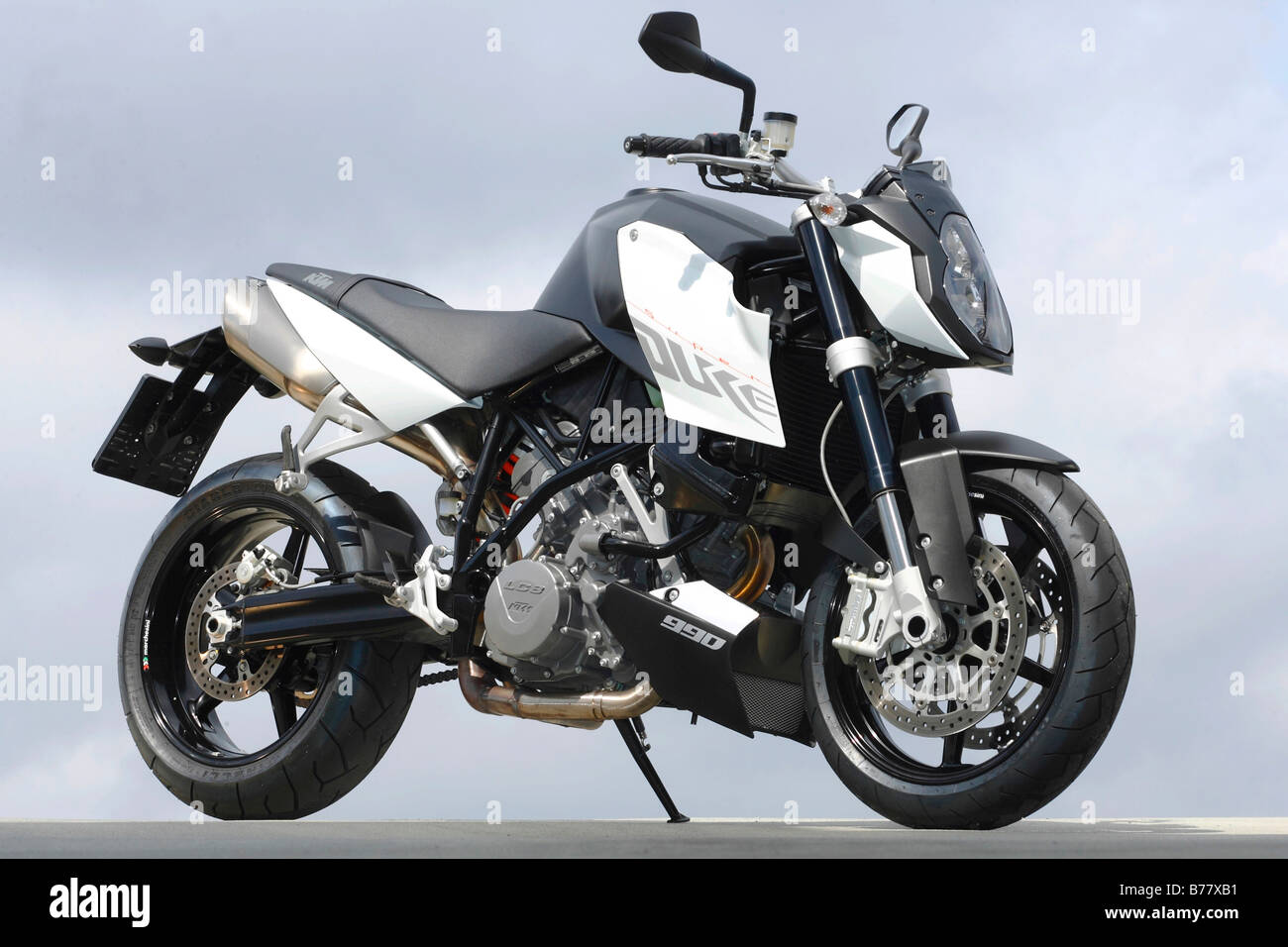 Motorcycle, KTM 990 Super Duke - Stock Image