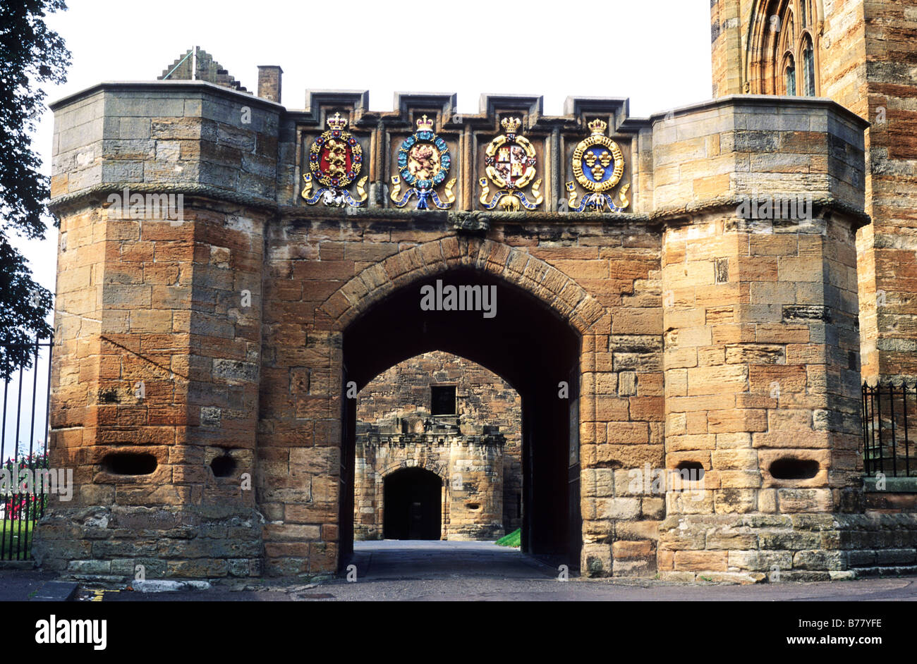 Linlithgow Palace 15th century Gateway Scotland UK medieval architecture Stock Photo