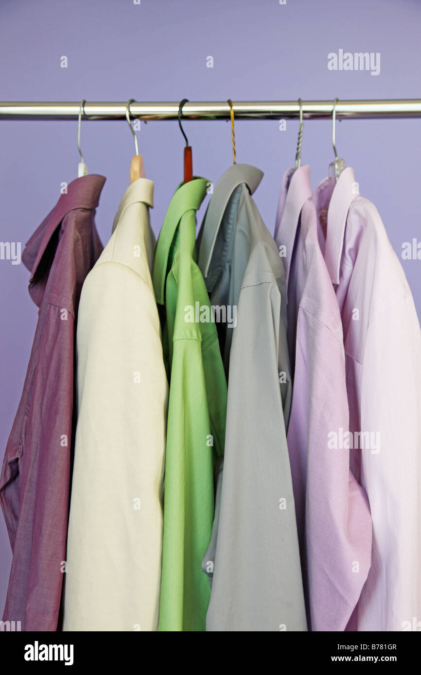 closet full of clothes - Stock Image
