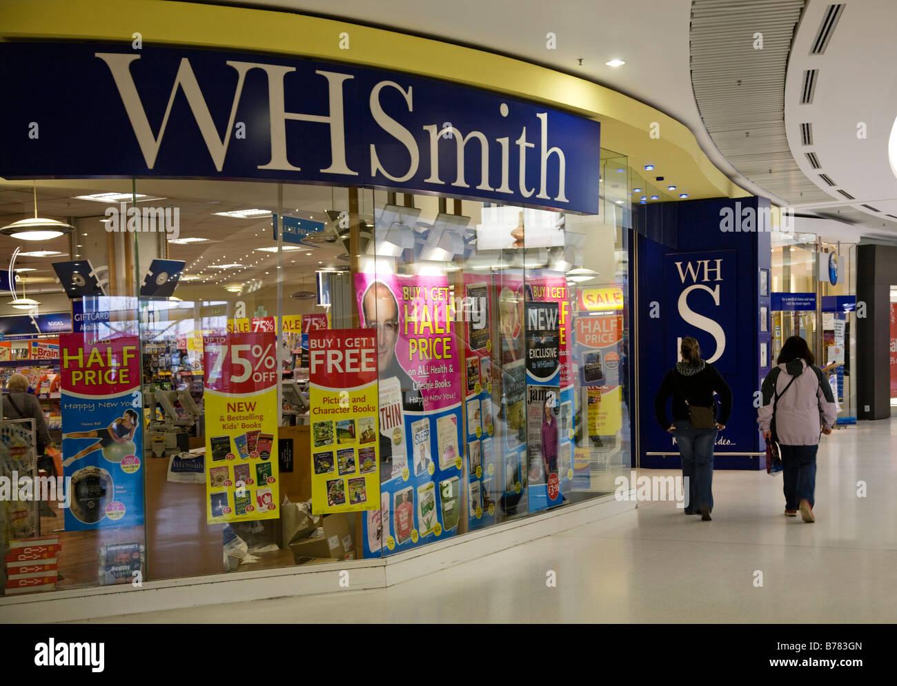 WH Smith's store Braehead shopping centre, Renfrewshire, Scotland. - Stock Image