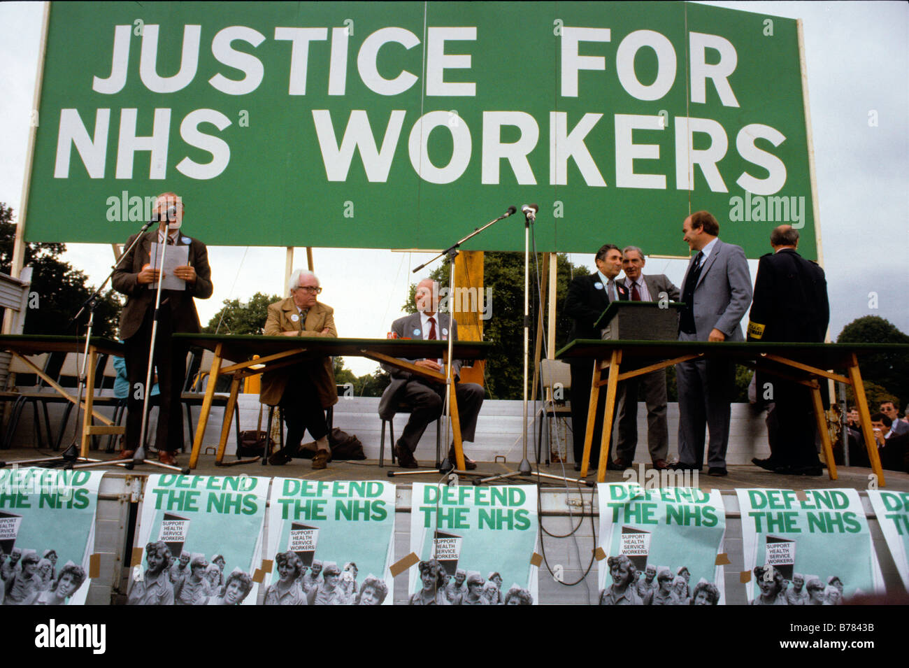 NHS WORKERS DAY OF ACTION LONDON MARCH 22 9 82 The Conservative government cut NHS funding leading to an organised - Stock Image