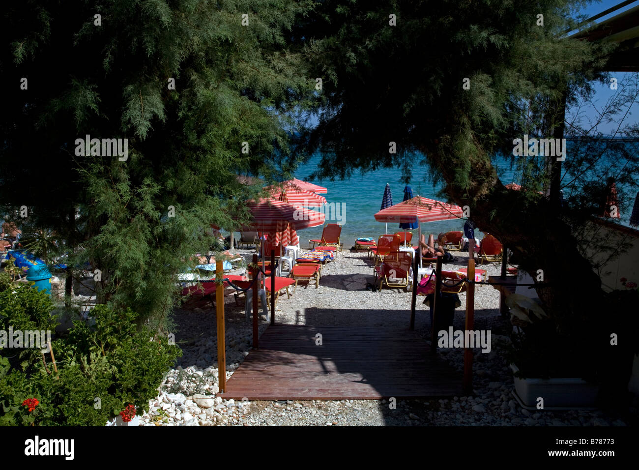 Beach at Pythagorion Samos Greece Stock Photo