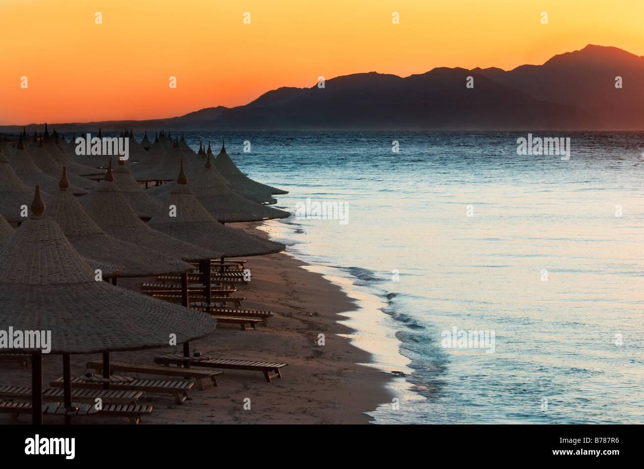 sunrise in sharm el sheikh egypt - Stock Image