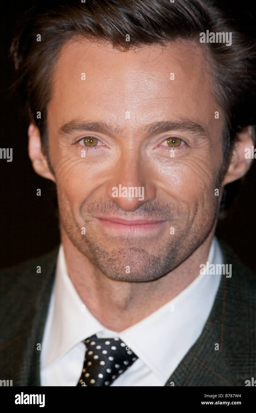 Hugh Jackman attending the Premier of the Hugh Jackman Odeon Cinema Leicester Square London - Stock Image