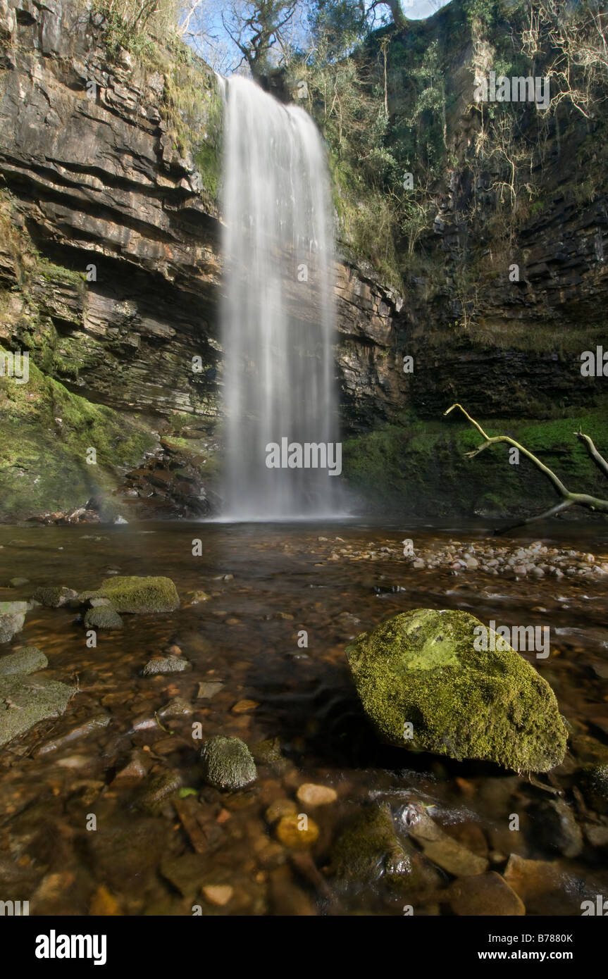 Henrhyd Falls Stock Photo