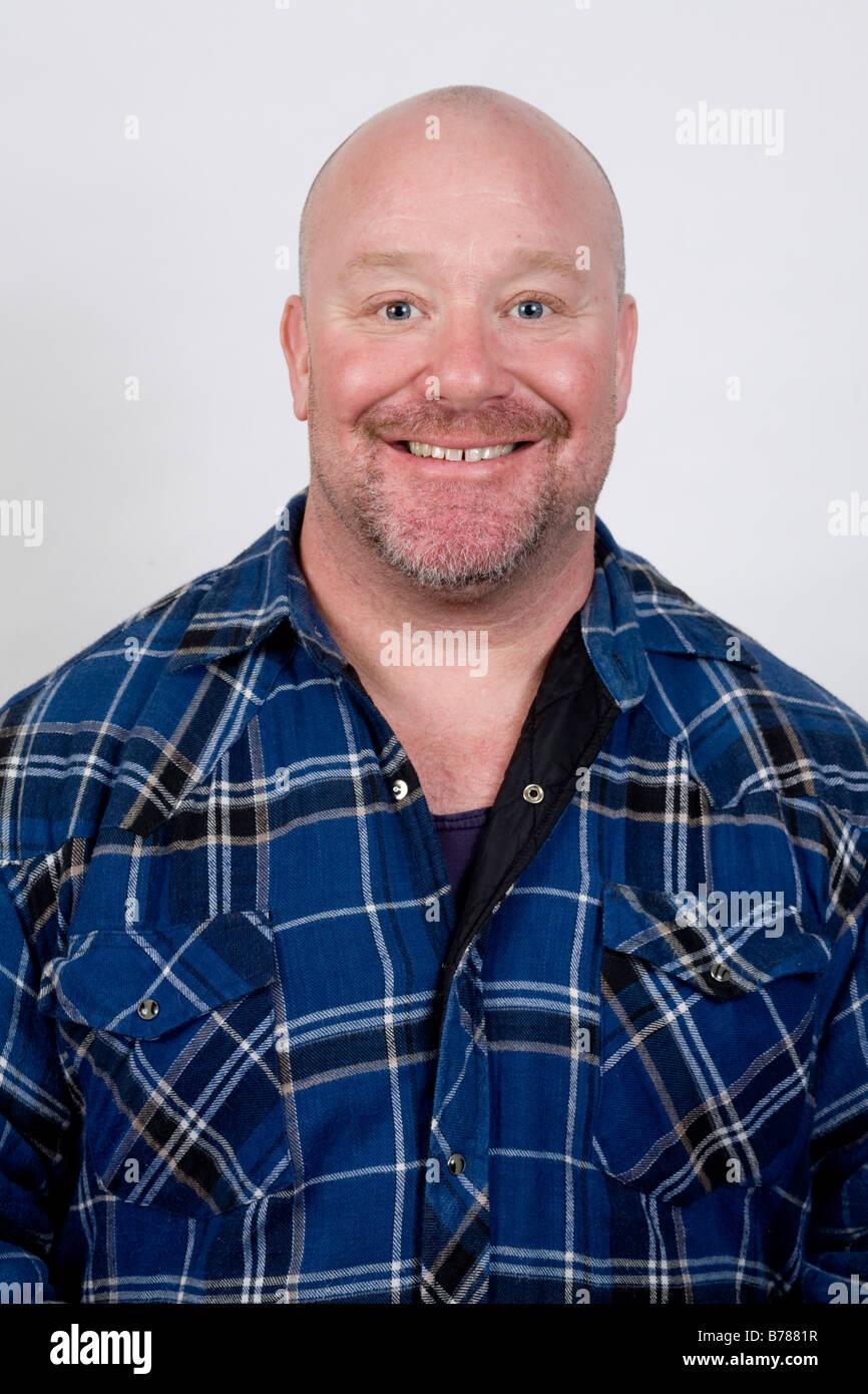 Adult man, portrait - Stock Image