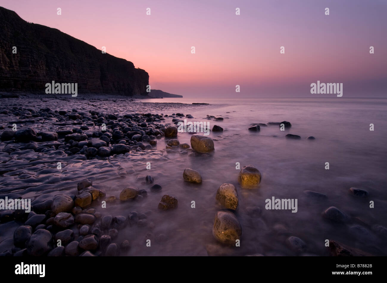 Llantwit Major Beach Stock Photo
