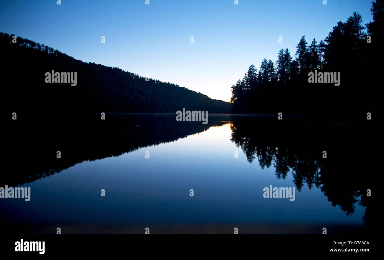 View from a campsite in the Boundary Waters Canoe Area Wilderness in the Superior National Forest in Northern Minnesota - Stock Image