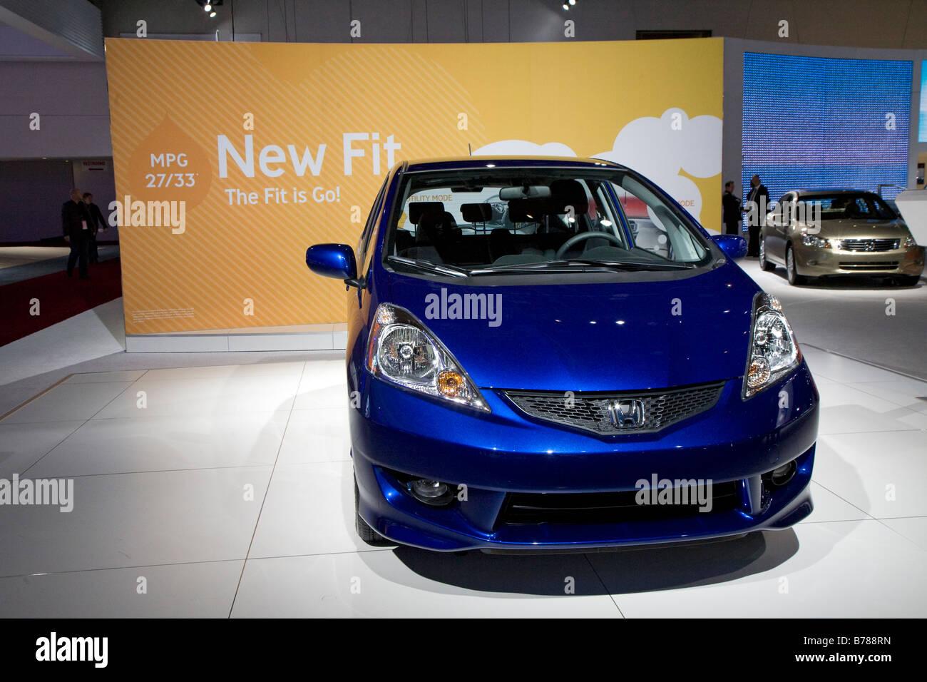 Detroit Michigan The Honda Fit At The North American International