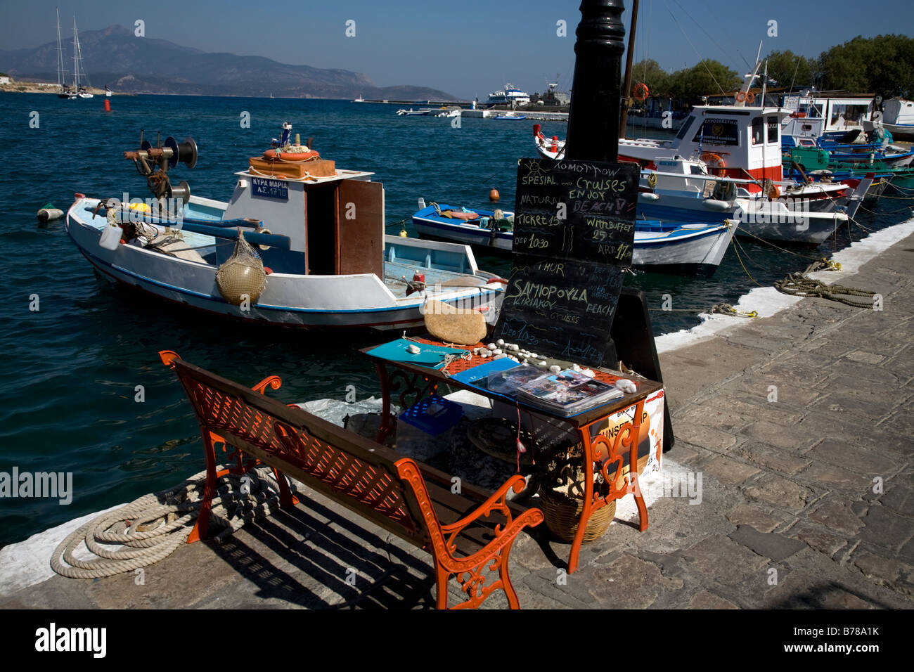 Boats In Harbour Pythagorion Samos Greece Stock Photo Alamy