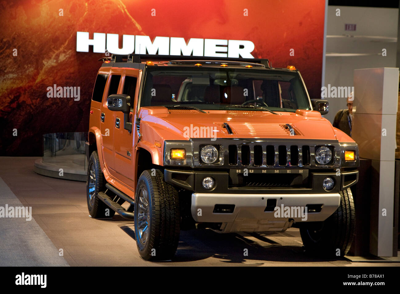 Detroit Michigan General Motors Hummer H2 on display at the North American International Auto Show - Stock Image