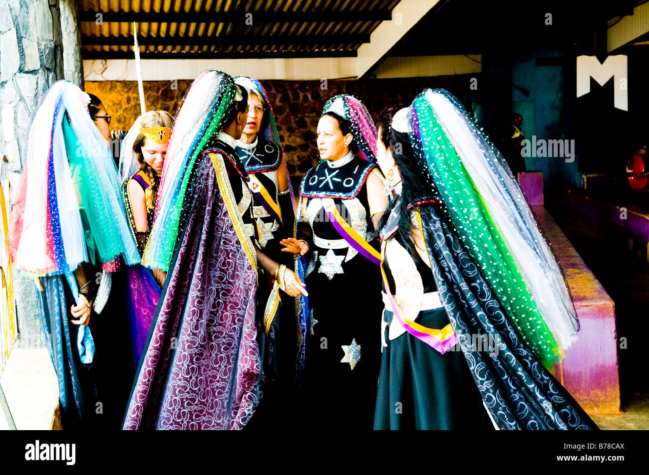Religious ceremony of the Valley of Dawn ( Vale do Amanhecer ) religion. - Stock Image