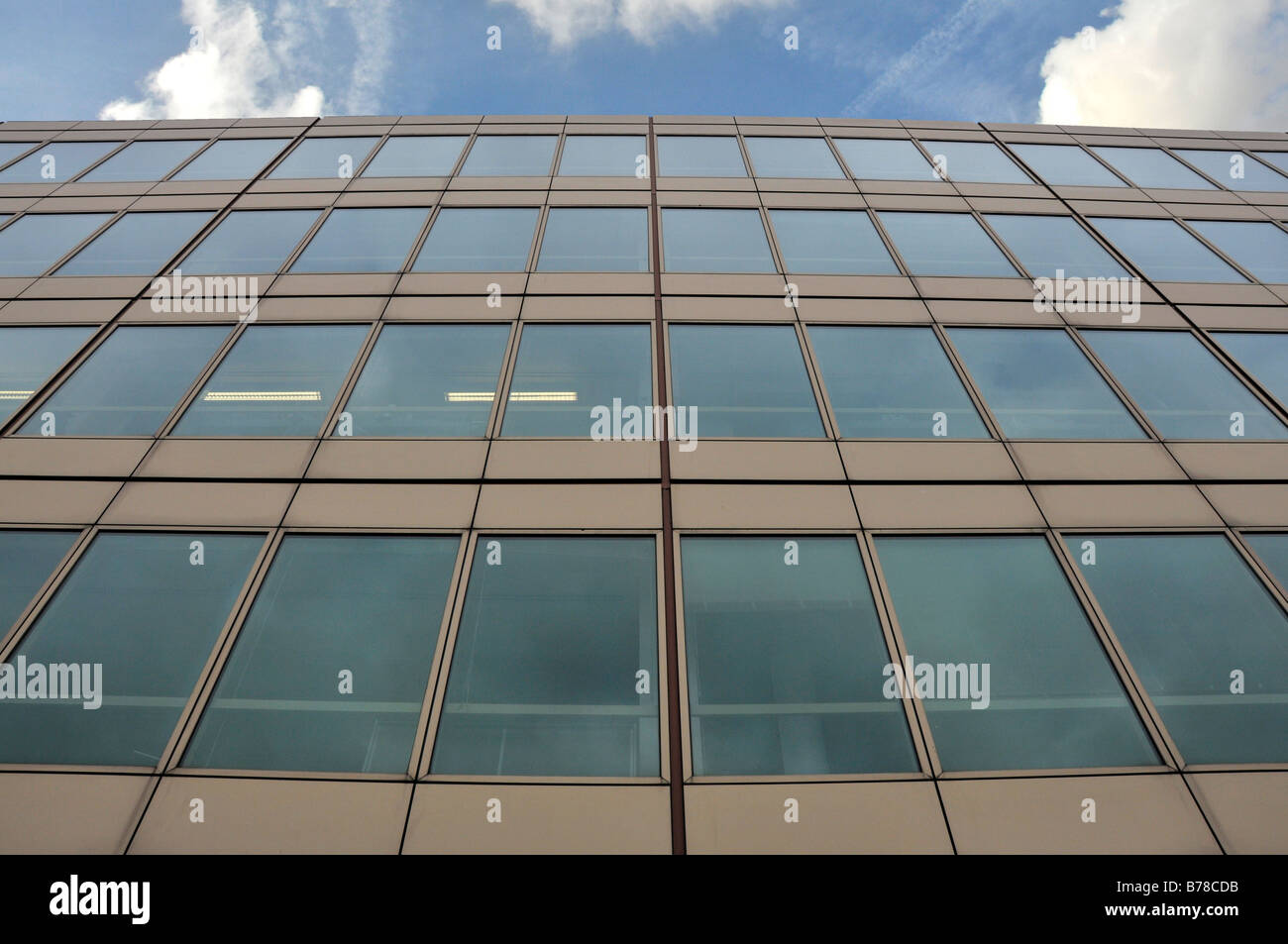 Building with glass panels - Stock Image